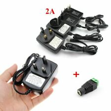 DC 12V 2A Power Supply Adapter Transformer + DC Connector For LED Strip Light