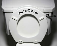 "TOILET Decal Multi Pack - Put Me Down - Toilet Seat Bathroom ©YYDC (7""w x 2""h)"