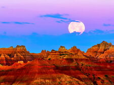 Badlands National Park Moon Mountains Cliffs Giant Wall Print POSTER