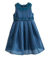 Kids Girls Bow Party Princess Wedding Pageant Christening Dress Frilled Collar