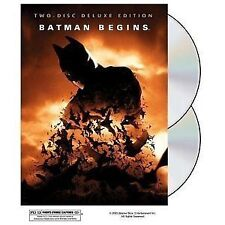 Batman Begins, Two Disc Deluxe Edition, Hologram Cover (DVD, 2005) NEW!