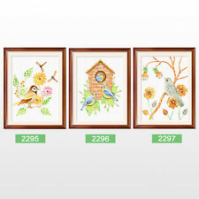Birds House Spring Fall Birds Stamped Cross Stitch Kit,14.5 x 17.7inches