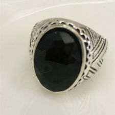 Vintage 316L Stainless Steel Vogue Design Mini Stone Ring New Size 8 9 10 11 %