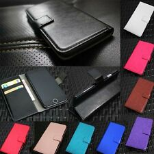 New Leather Wallet Flip Skin Phone Case Cover For Apple iPhone & Huawei Series