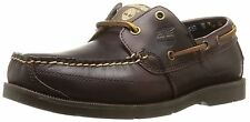 Men's Timberland 5230R Kia Wah Bay Handsewn Boat Shoes Brown Pull-Up Leather
