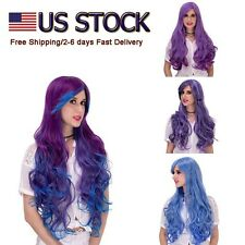 US STOCK Women Curly Anime Cosplay Full Hair Wig Halloween Long Wavy Curly Wigs