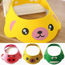 Cartoon Shampoo Bath Bathing Shower Cap Hat Wash Hair Shield Baby Kid Child Soft