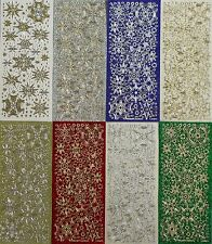SPARKLE Glitter SNOWFLAKE PEEL OFF STICKERS Snowflakes Mixed Dots Small Large