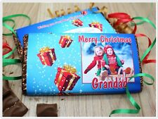 Personalised Christmas Galaxy Chocolate Bar Wrapper Stocking Filler Gift N19