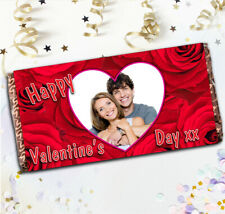 Personalised Happy Valentines Day 114g Galaxy Milk Chocolate Bar Wrapper Gift N4