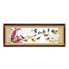 Traditional Cultural Family Harmony Jia He Wan Shi Xing Stamped Cross Stitch Kit