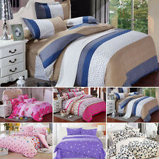 Single Double King Size Bed Set Pillowcase Quilt Duvet Cover Bed Sheet 1# - 6#