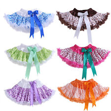 Baby Girl Polka Dot Bow Tutu Skirt Pettiskirt Party Dance Christmas Kids Clothes