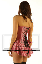Skirted corset back lacing Victorian style full steel boned Silk