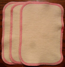 Cloth Baby Wipes Hemp Organic Cotton Fleece 5 x 8 fuchsia trim