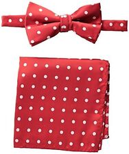 Stacy Adams Mens Neckwear SAB402 Satin Dot Bow Tie Set- Choose SZ/Color.