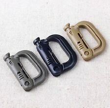 multiple color Military Products Grimloc MOLLE Locking D-ring EDC webbing buckle
