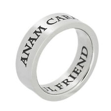 Stainless Steel Anam Cara Soul Friend Poesy Ring, Sister Ring, Friendship Ring