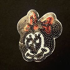 Minnie Mouse 4' Smiley Disney CARTOON Sequin Iron-On Patch Applique