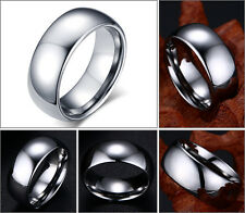 8mm Men's Tungsten Carbide Classic Domed Shape Wedding band Ring