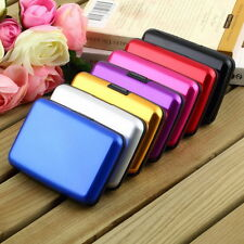 Waterproof Business ID Credit Card Wallet Holder Aluminum Metal Case Box BE