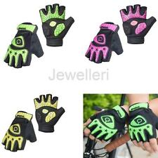 Sports Fingerless Cycling Bicycle Gloves Half Finger Less Silicone Gel Pad Palm