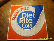 RARE Old Vintage Diet Rite Cola Soda Cloth Advertising Jacket Delivery Patch NOS