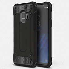 Hybrid Armor Hard Back Case Cover With Card Slot Holder Stand For Apple Samsung