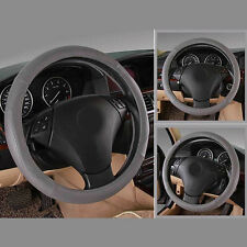 Leather Car Cover Car Styling Steering Wheel Cover Soft Handle Racing Wheel 36CM