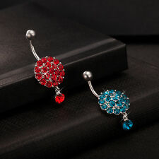 CZ Circle Flower Dangle Helix Belly Ring Piercing Fashion Body Jewelry