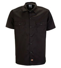 Dickies 576 WORK SHIRT Short Sleeve Slim Fit color: black / black