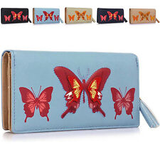 Butterfly Bi-fold Women Purse Wallet Designer Ladies Girl Coin Notes Clutch Bag