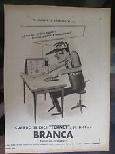 FERNET-BRANCA ADVERTISING 1952 FROM A MAGAZINE IN SPANISH