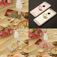 MIRROR REFLECTIVE + METAL RING BACK SOFT COVER FOR IPHONE 7 & PLUS / 6S 6 & PLUS