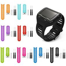 Silicone Replacement Band Strap Kit For Garmin Forerunner 910XT GPS Sport Watch