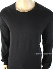 ARMANI EXCHANGE AX Men Embroidered Waffle Stitch Thermal Crewneck Logo Shirt NWT