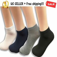 12Pairs Socmark Mens Athletic Sport Socks Casual Athletic Cotton Crew Ankle Lots