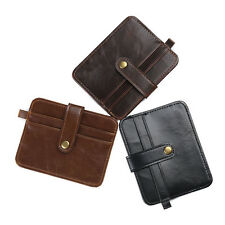 New Men Mini Leather Wallet Credit Card ID Card Holder Purse Money Clip Vintage