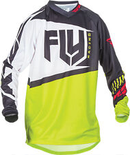 Fly Racing F-16 Jersey Youth Jersey Black and Lime YS YM YL YXL ATV MX Jersey