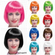 WOMENS LADIES SHORT BOB WIG FANCY DRESS COSPLAY WIGS POP PARTY COSTUME-11 COLORS