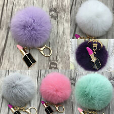 Fur Pom Pom Ball For Key Ring Chain Phone Car Handbag Bag DIY Hanging Pendant