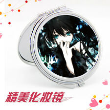Black Rock Shooter Mini Portable Stainless Steel Makeup Cosmetic Compact Mirror