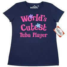 Inktastic World's Cutest Tuba Player Music Women's T-Shirt Marching Band Cute
