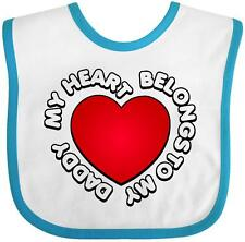 Inktastic My Heart Belongs To My Daddy Baby Bib Dad Parents Love Gift Clothing