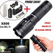 5000LM X800 G700 CREE XML T6 LED Flashlight 5-Mode Zoomable Outdoor Torch Set US