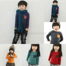 Toddler Infant Baby Kids Cotton Long Sleeve T-shirt Tee Boys Girls Tops Clothes
