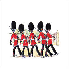 Decorative British Queens Guard soildiers design traditional ceramic wall tile