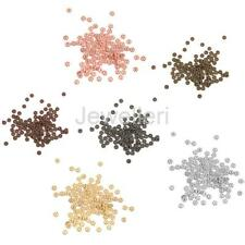 100pcs Metal Snowflake Flower Loose Spacer Beads Charms DIY Jewelry Findings