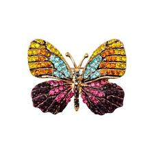 Stunning Crystal Rhinestone Butterfly Brooch Pin Jewelry Gift for Girl Women