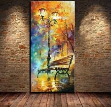 Handmade Knife Oil Painting Canvas Art Framed Home Decor Wall Abstract Landscape